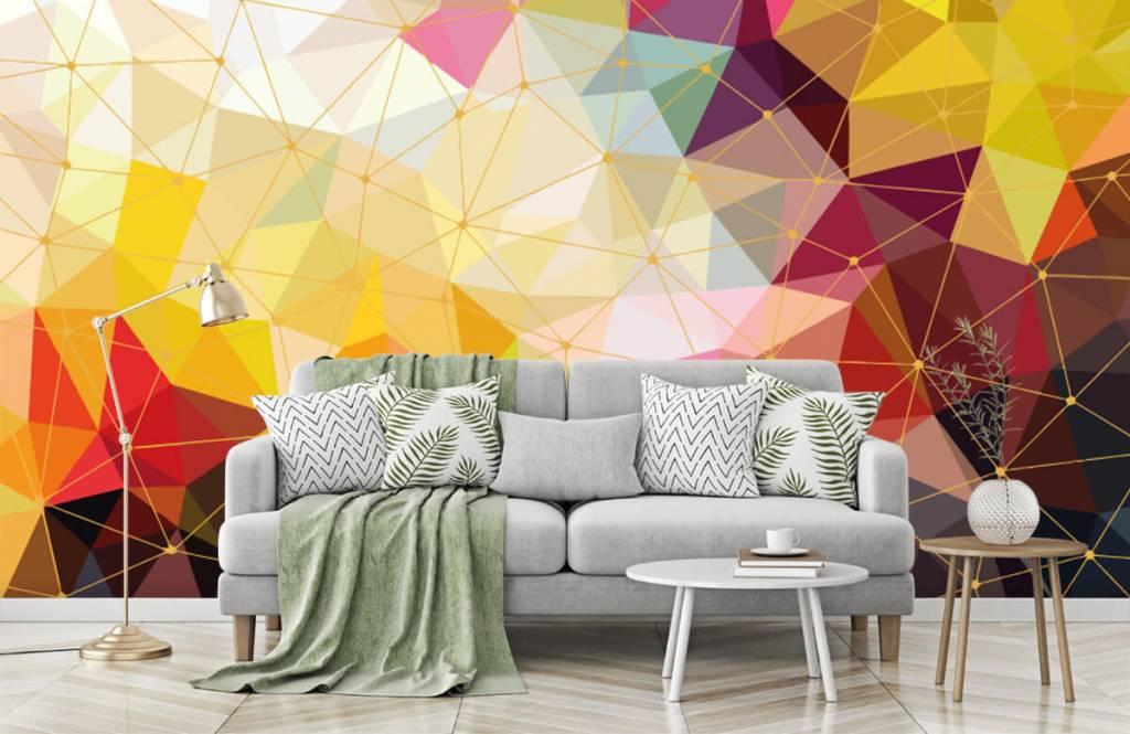 Autre - Impression de triangles colorés - Chambre à coucher 2