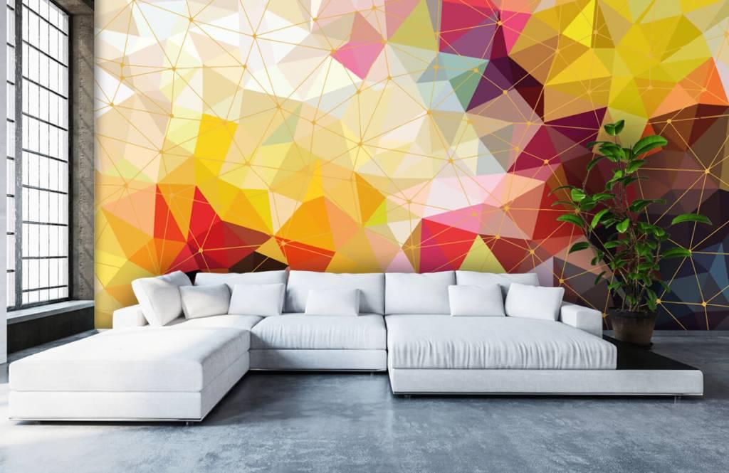 Autre - Impression de triangles colorés - Chambre à coucher 3
