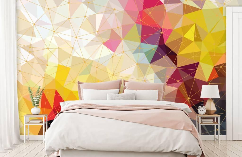 Autre - Impression de triangles colorés - Chambre à coucher 4