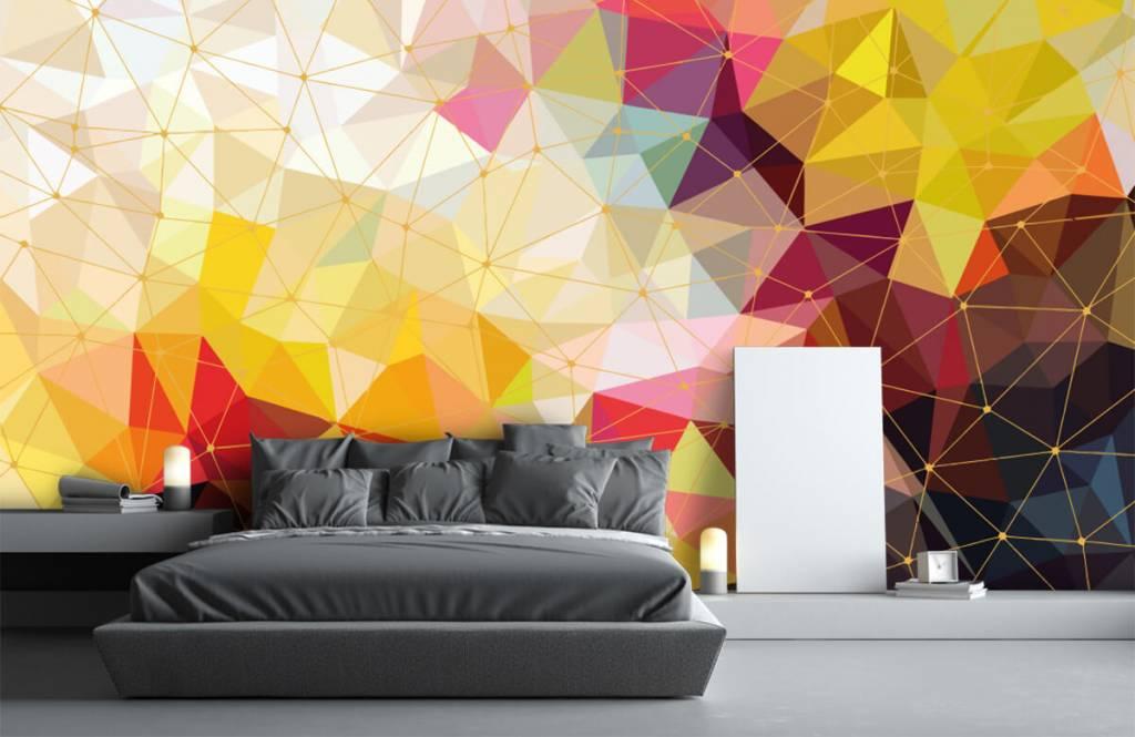 Autre - Impression de triangles colorés - Chambre à coucher 5