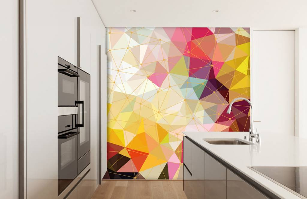 Autre - Impression de triangles colorés - Chambre à coucher 6