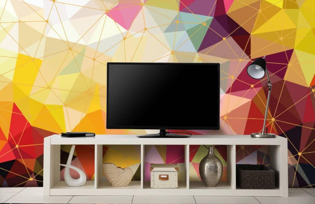 Autre - Impression de triangles colorés - Chambre à coucher 7