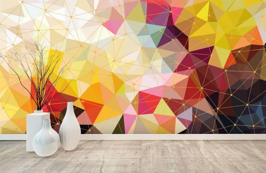 Autre - Impression de triangles colorés - Chambre à coucher 8