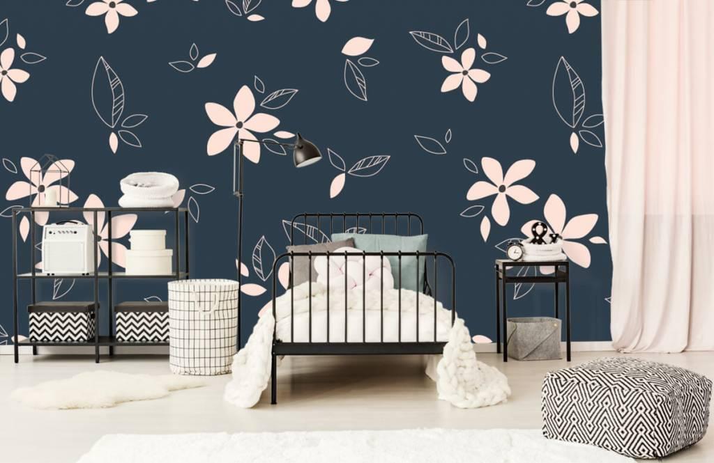 Motifs chambre d'enfants - Motif floral rose - Chambre d'enfants 2