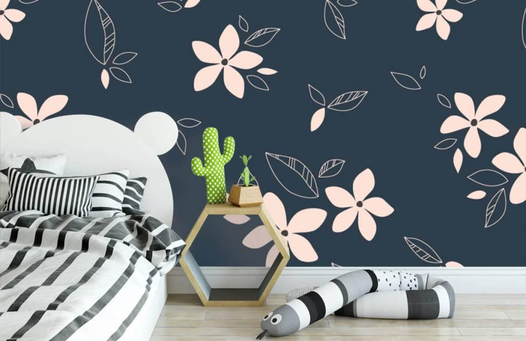 Motifs chambre d'enfants - Motif floral rose - Chambre d'enfants 3