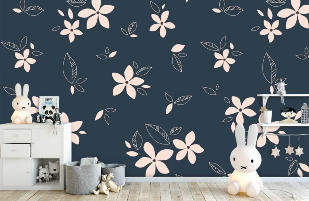 Motifs chambre d'enfants - Motif floral rose - Chambre d'enfants 4