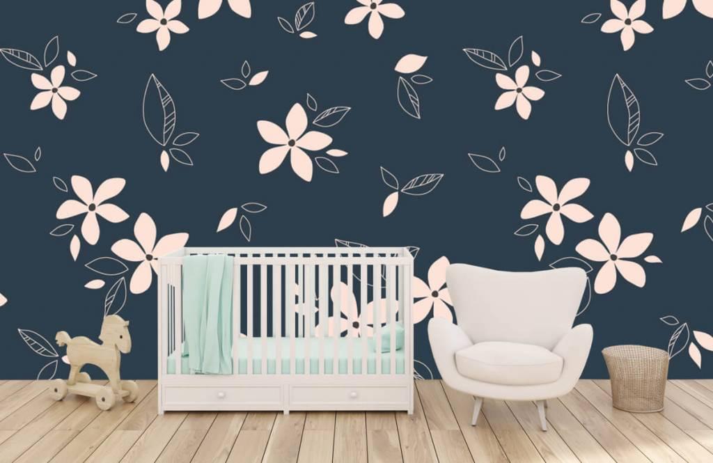 Motifs chambre d'enfants - Motif floral rose - Chambre d'enfants 5