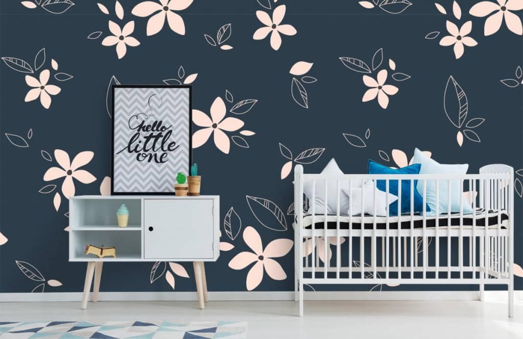 Motifs chambre d'enfants - Motif floral rose - Chambre d'enfants 6