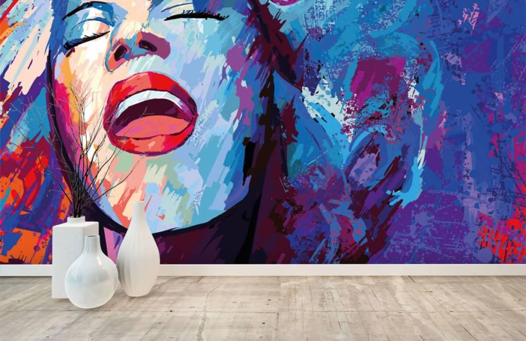 Papier peint moderne - Peinture d'une femme abstraite - Chambre d'adolescent 8