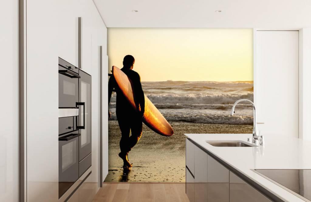 Papier peint de la plage - Surfeur - Chambre d'adolescent 1