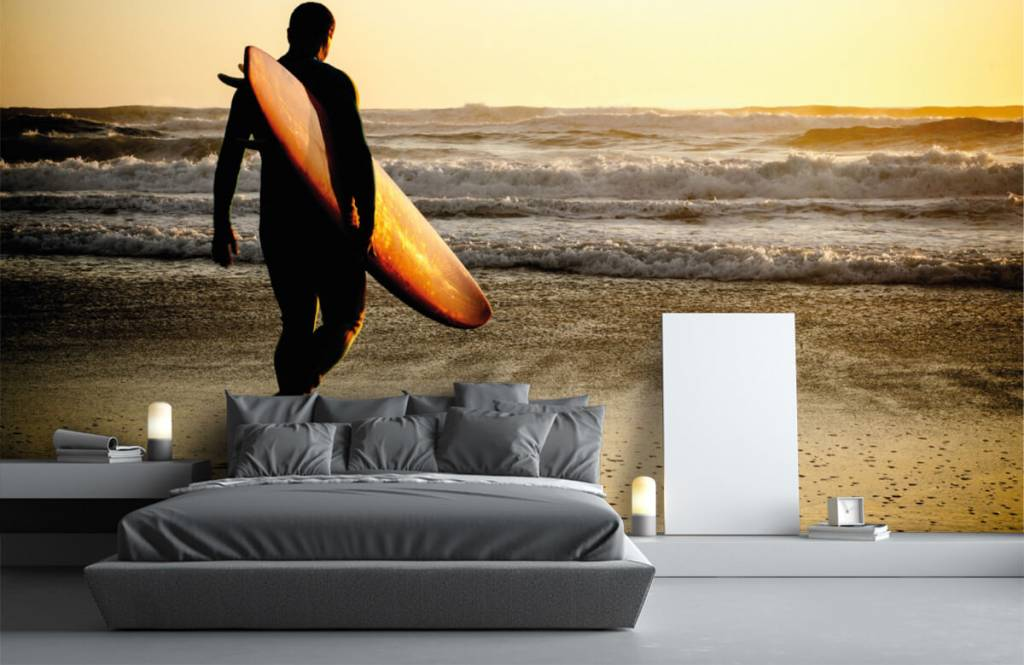 Papier peint de la plage - Surfeur - Chambre d'adolescent 4