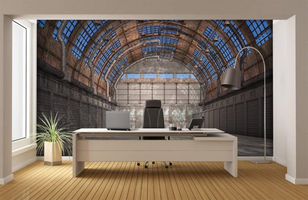 Bâtiments - Hall d'usine vintage - Entrepôt 4