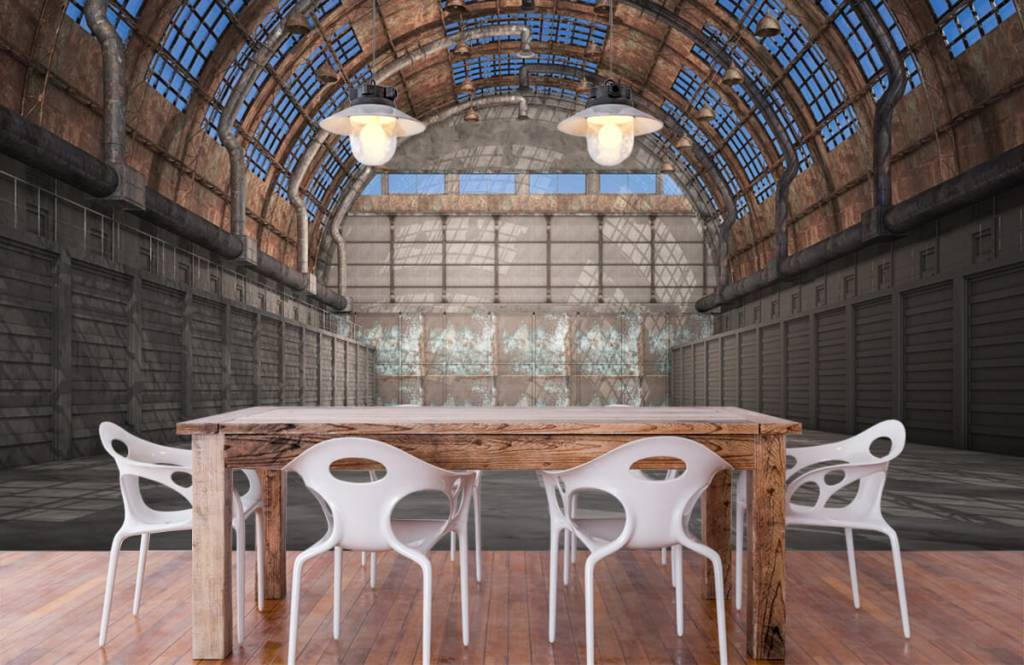Bâtiments - Hall d'usine vintage - Entrepôt 7