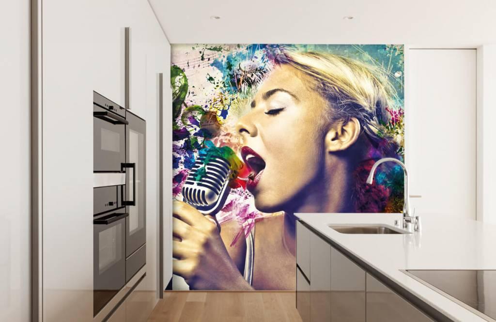 Papier peint moderne - Vieille chanteuse - Chambre d'adolescent 1