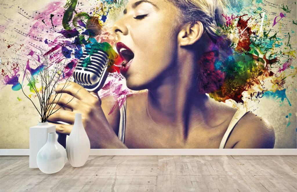 Papier peint moderne - Vieille chanteuse - Chambre d'adolescent 8
