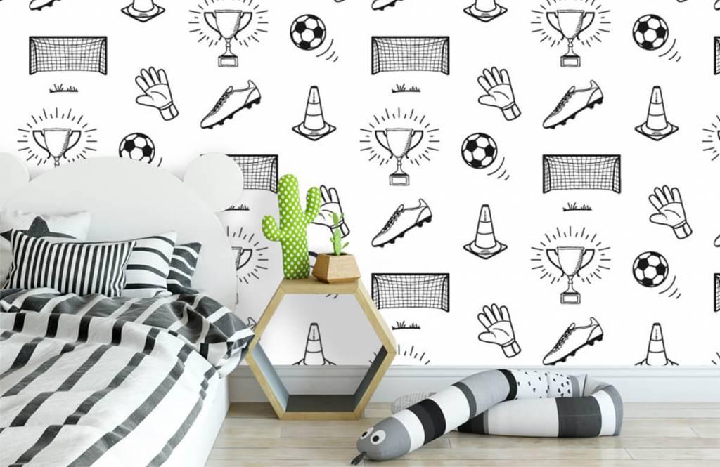 Papier peint de football - Modèle de football - Chambre d'enfants 1