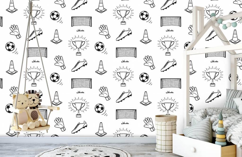Papier peint de football - Modèle de football - Chambre d'enfants 2
