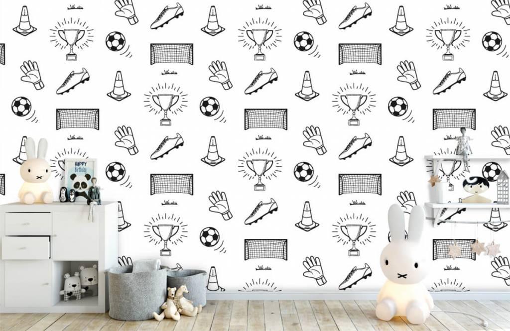 Papier peint de football - Modèle de football - Chambre d'enfants 3