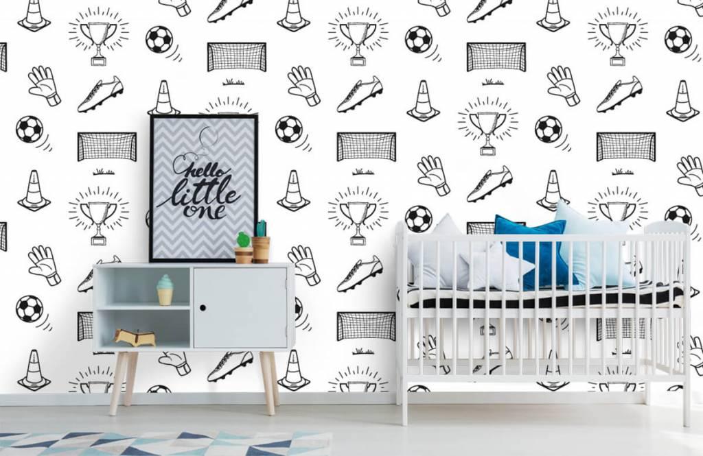 Papier peint de football - Modèle de football - Chambre d'enfants 6