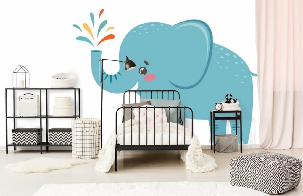 Éléphants - Eléphant joyeux - Chambre de bébé 1
