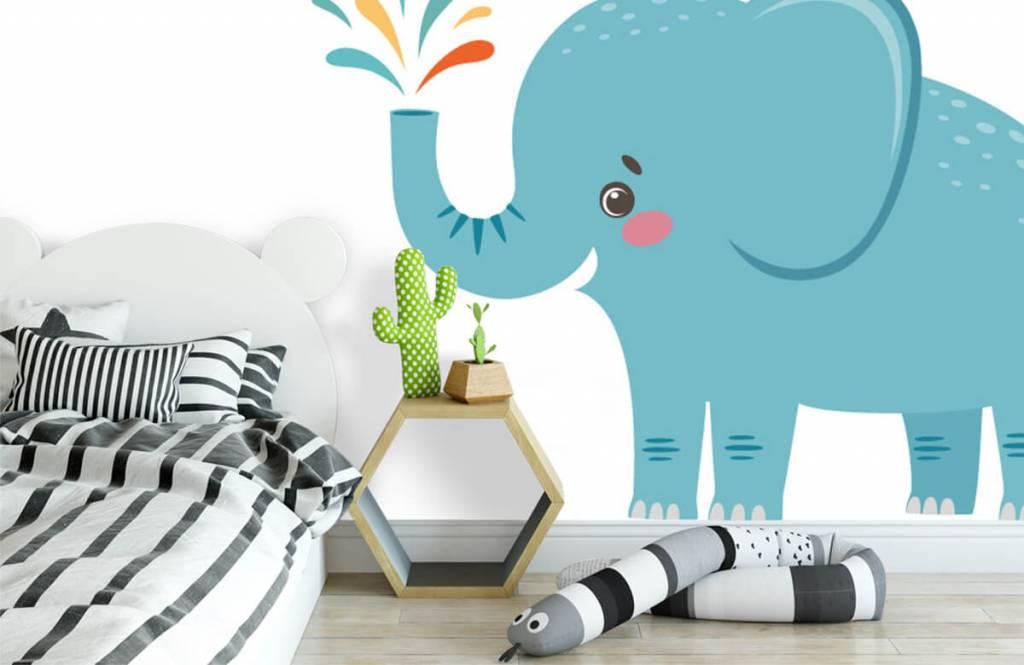 Éléphants - Eléphant joyeux - Chambre de bébé 2