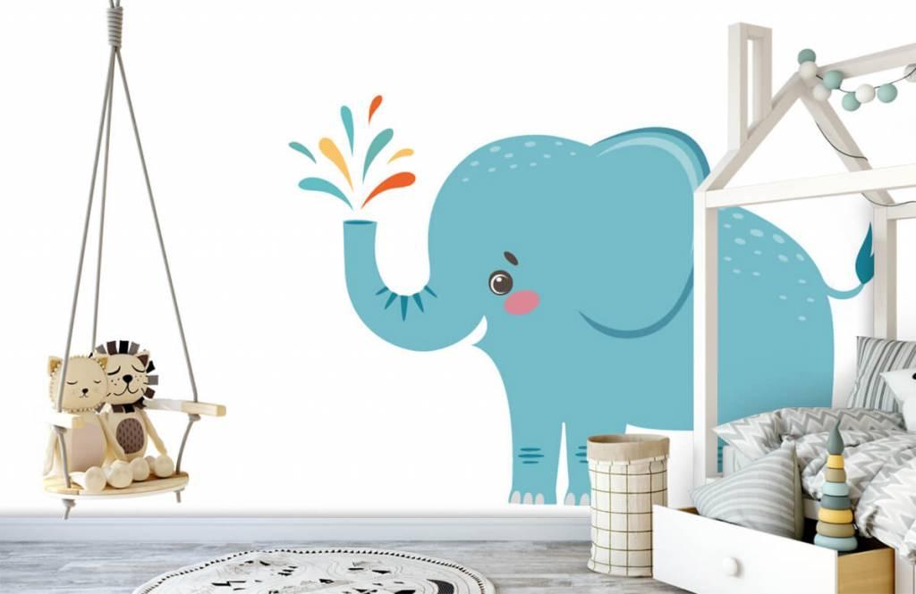 Éléphants - Eléphant joyeux - Chambre de bébé 3