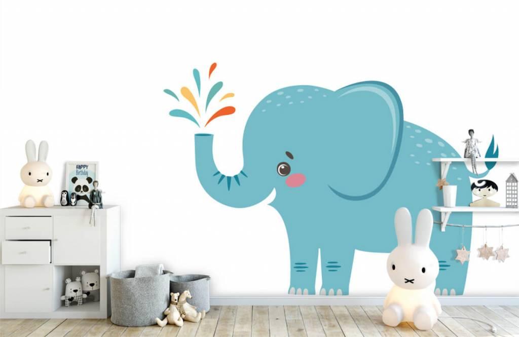Éléphants - Eléphant joyeux - Chambre de bébé 4