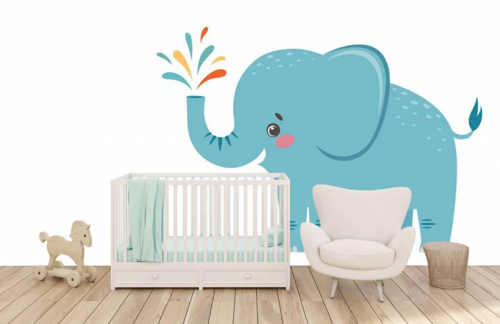 Éléphants - Eléphant joyeux - Chambre de bébé 5
