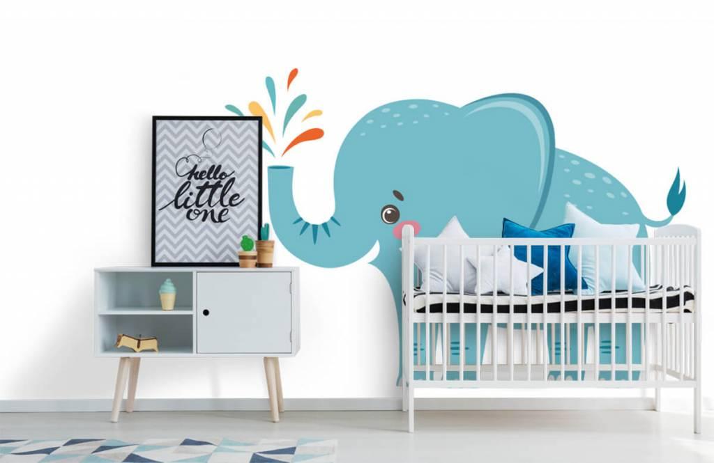 Éléphants - Eléphant joyeux - Chambre de bébé 6