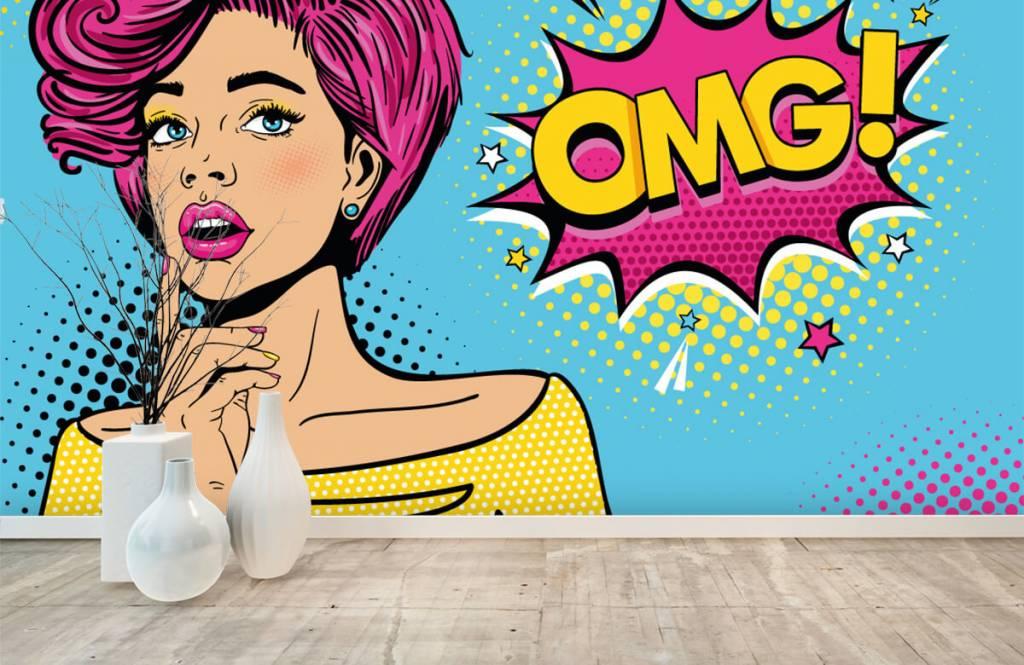 Papier peint moderne - Femme au style pop art - Chambre d'adolescent 1