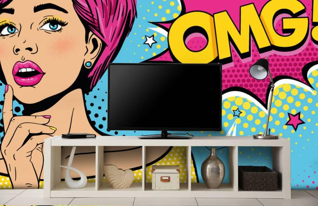 Papier peint moderne - Femme au style pop art - Chambre d'adolescent 5