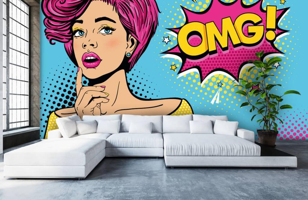 Papier peint moderne - Femme au style pop art - Chambre d'adolescent 6