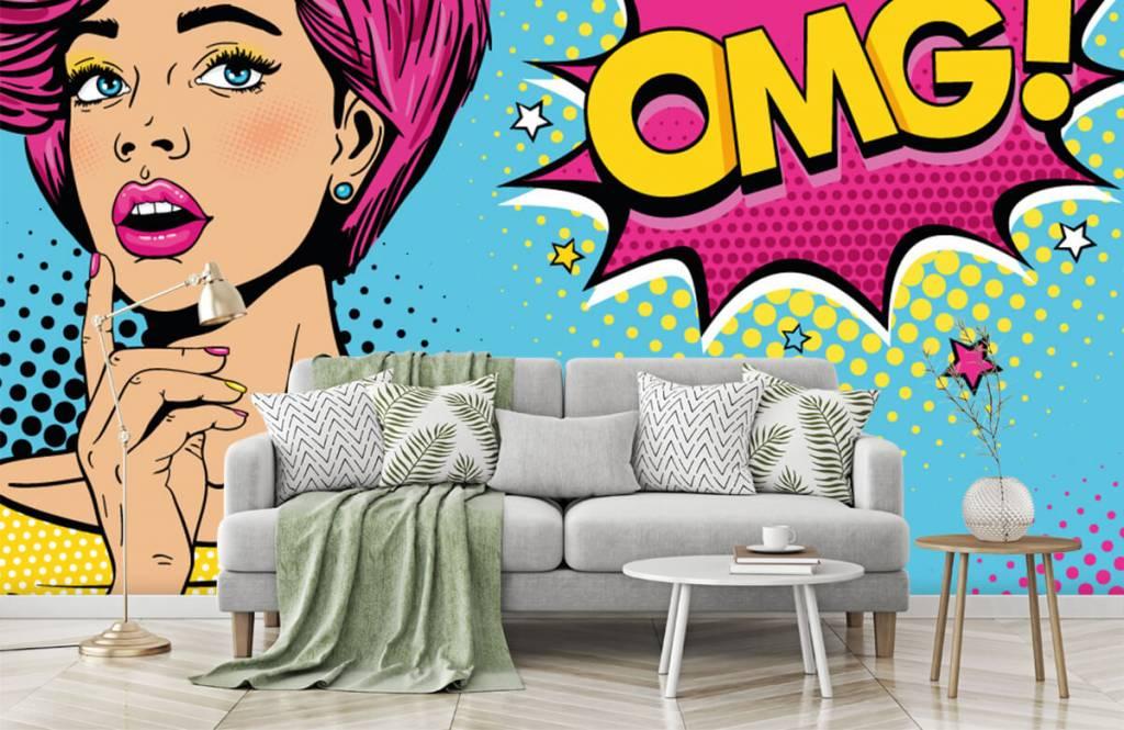 Papier peint moderne - Femme au style pop art - Chambre d'adolescent 8