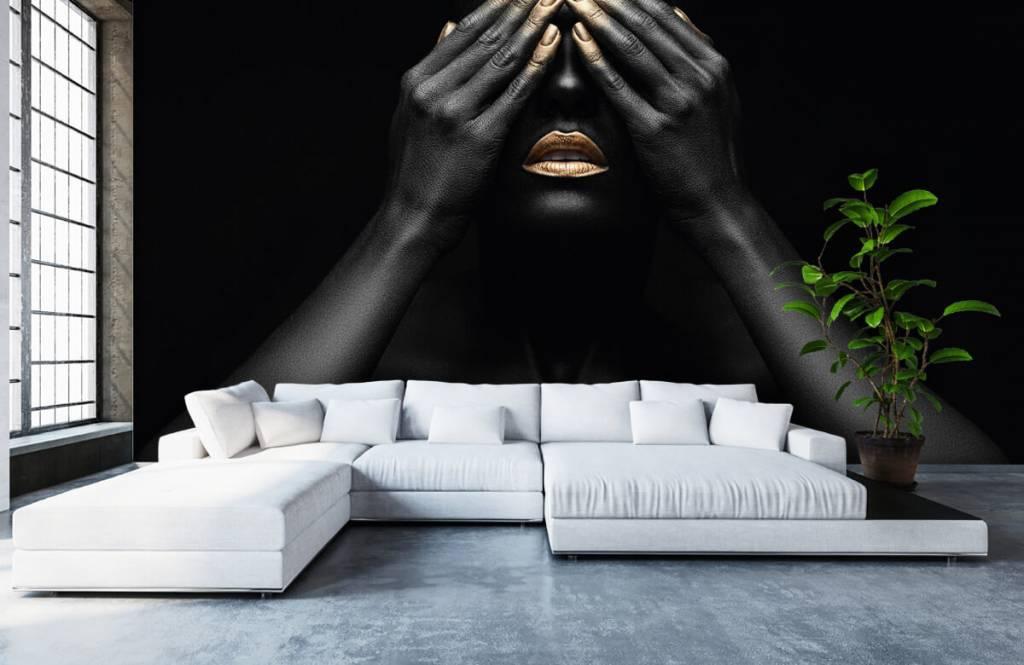 Papier peint moderne - Femme avec les mains devant les yeux - Salle de séjour 6