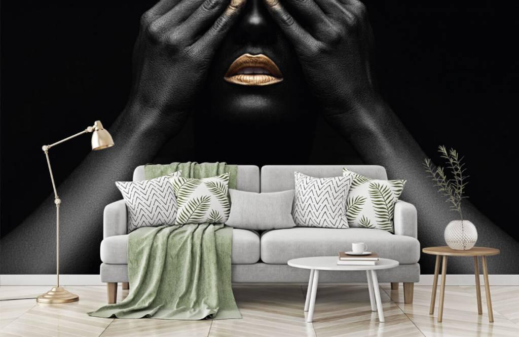 Papier peint moderne - Femme avec les mains devant les yeux - Salle de séjour 7