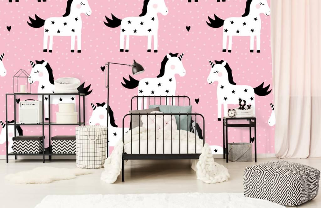 Chevaux - Motif licorne - Chambre d'enfants 1