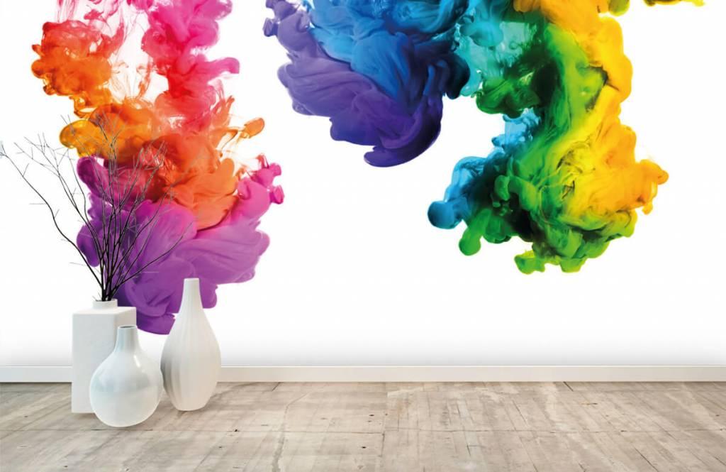 Abstrait - Fumée colorée - Salle de Loisirs 1
