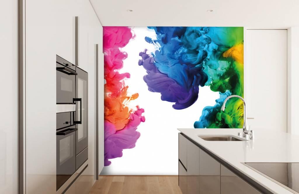 Abstrait - Fumée colorée - Salle de Loisirs 4