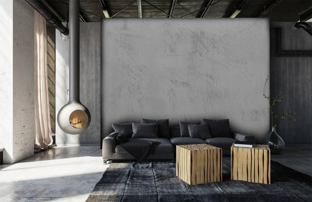 Papier peint aspect béton - Béton sablé - Salle de séjour 6