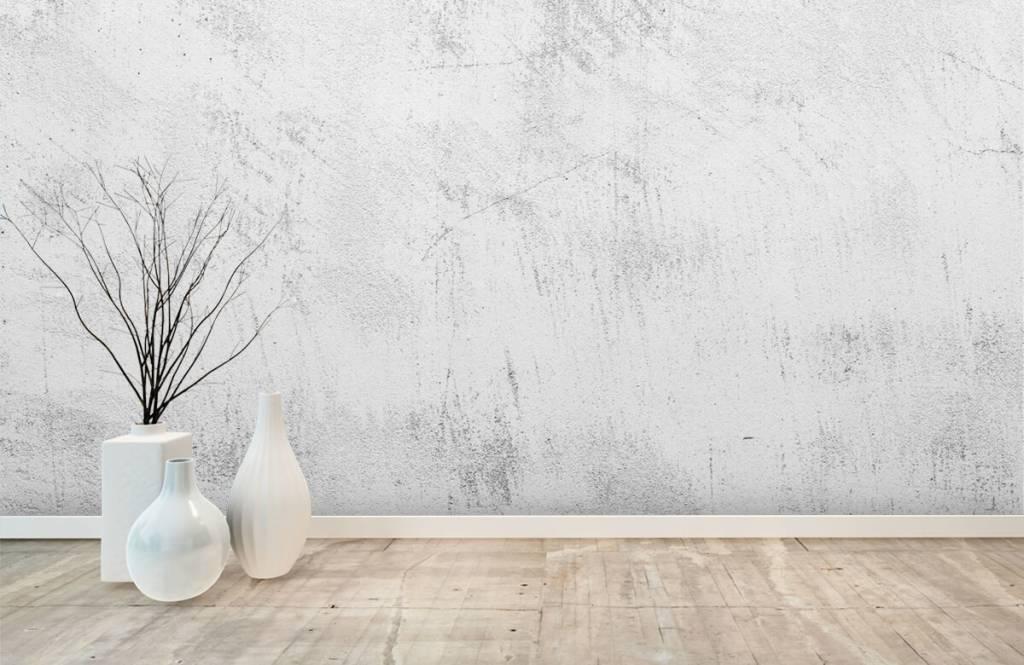 Papier peint aspect béton - Béton sablé - Salle de séjour 8