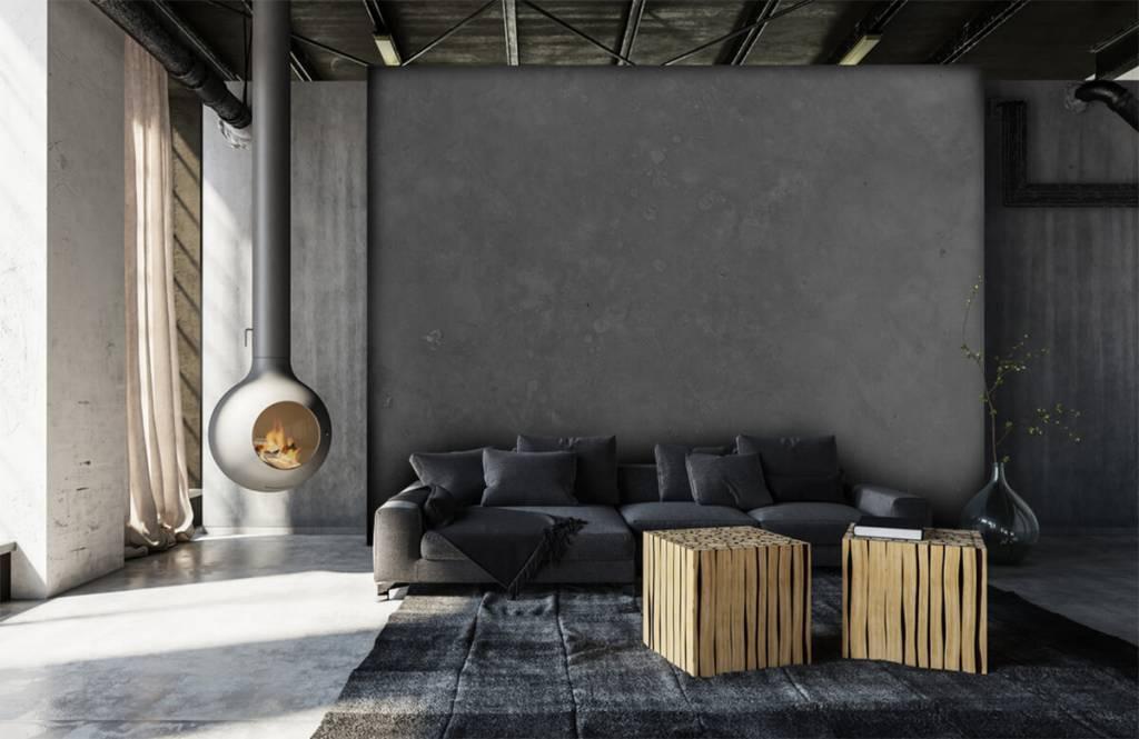Papier peint aspect béton - Béton gris - Salle de conférence 6