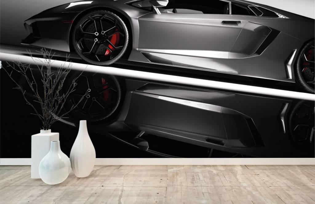 Transport - Lamborghini grise - Chambre d'adolescent 1