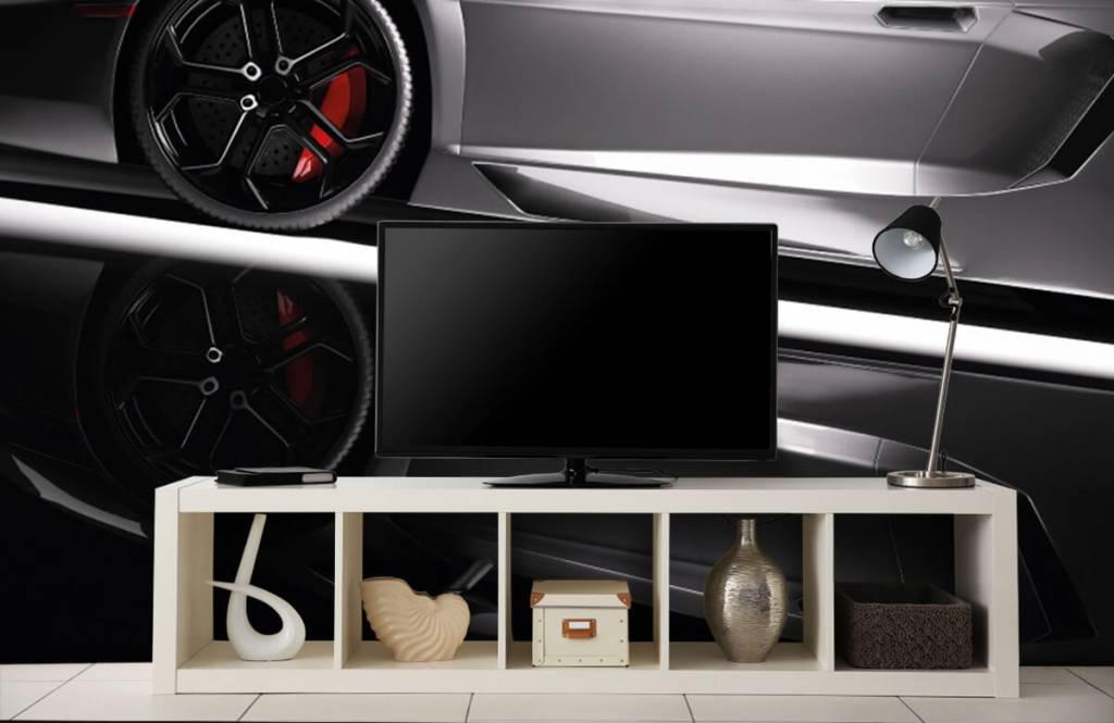 Transport - Lamborghini grise - Chambre d'adolescent 2