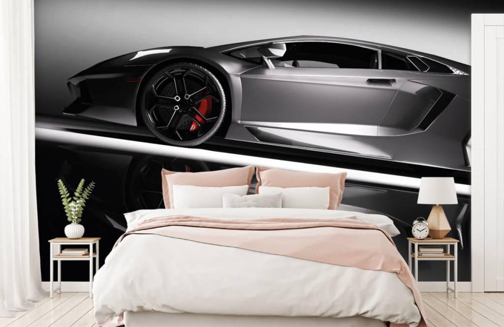 Transport - Lamborghini grise - Chambre d'adolescent 3