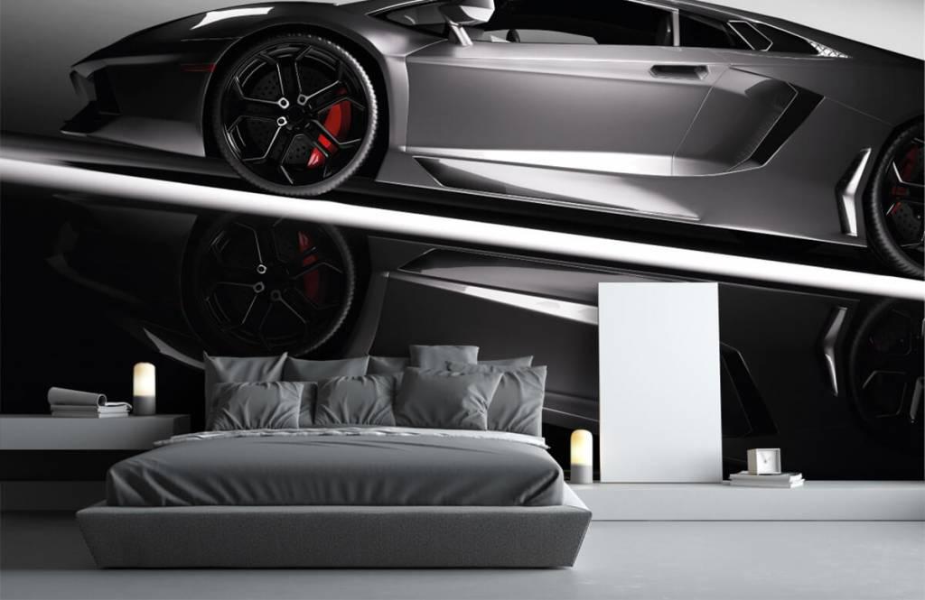 Transport - Lamborghini grise - Chambre d'adolescent 4