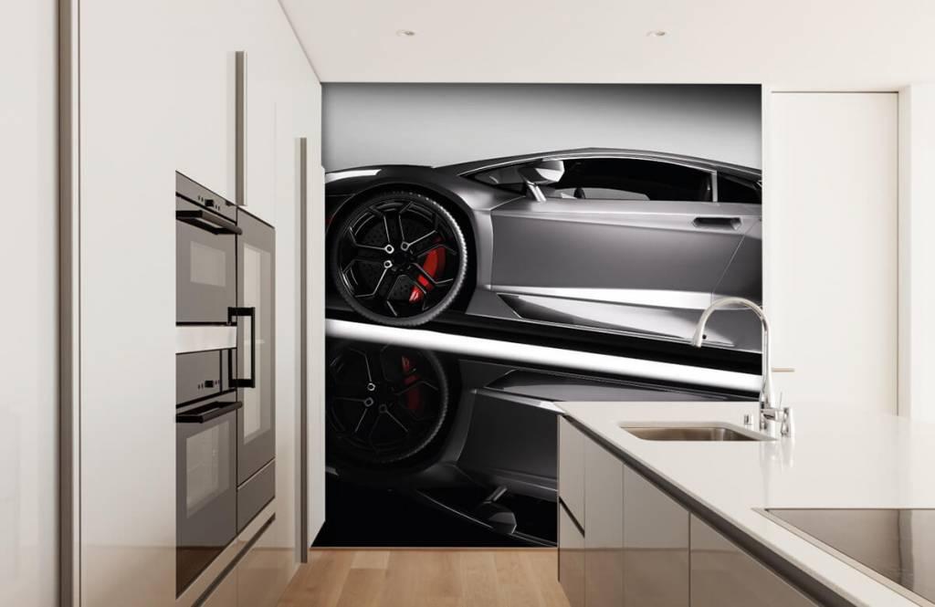 Transport - Lamborghini grise - Chambre d'adolescent 5