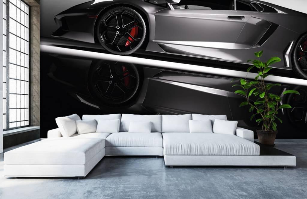 Transport - Lamborghini grise - Chambre d'adolescent 6