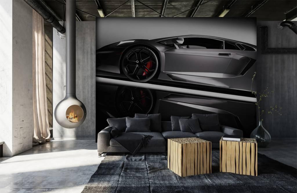 Transport - Lamborghini grise - Chambre d'adolescent 7