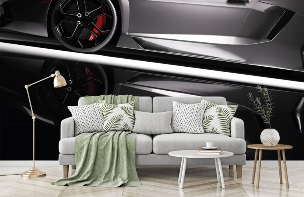 Transport - Lamborghini grise - Chambre d'adolescent 8