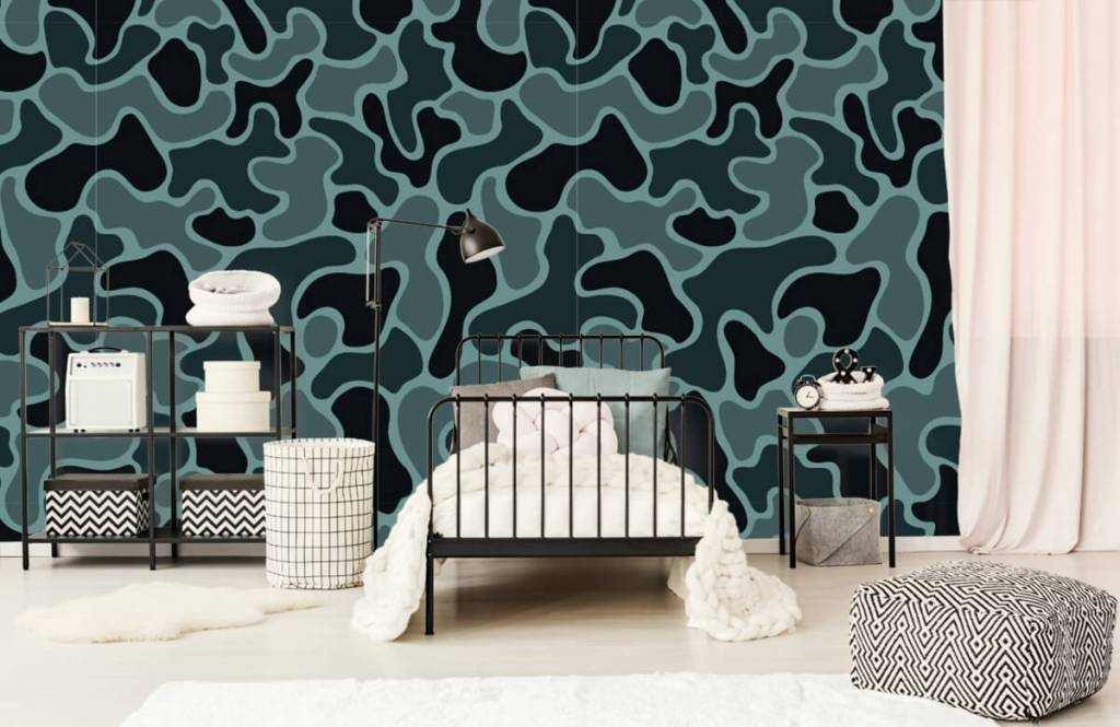 Autre - Camouflage vert gris - Chambre d'enfants 1